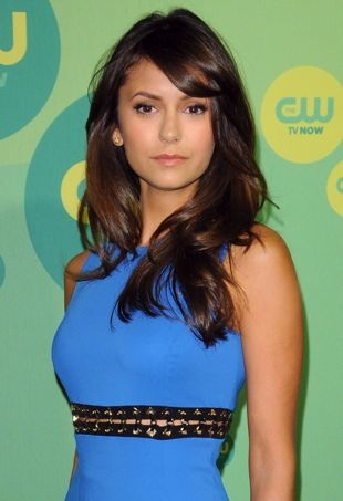 Nina Dobrev Laces Up in Versace for the 2013 CW Upfront Presentation