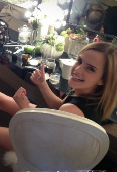 Emma Watson Needs Help Getting Her Shoes Off and Other Celeb Twitpics of the Week