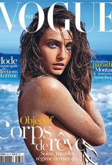 Vogue Paris Resurrects Last Year's Body Sand Concept for Andreea Diaconu's Cover