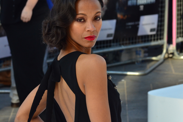 Zoe Saldana, U.K. premiere of 'Star Trek Into Darkness 3D'