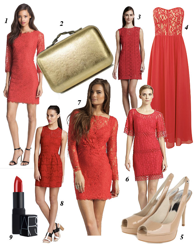 Dvf Red Lace Dress Elie Tahari Jette Lace Dress