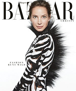 Christy Turlington Harper's Bazaar Cover June/July 2013 issue. Photographed by Daniel Jackson