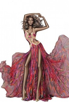 Roberto Cavalli Sketch Distorts Beyonce's Body Into Stick-Thin Proportions for a PR Image