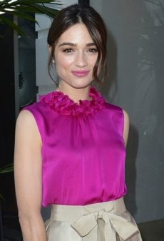 Crystal Reed Celebrates Carolina Herrera's Boutique Opening in a Vivid CH Collection Look