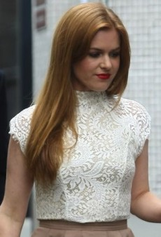 Isla Fisher Makes the Rounds in London Wearing a Lover Spring 2013 Look