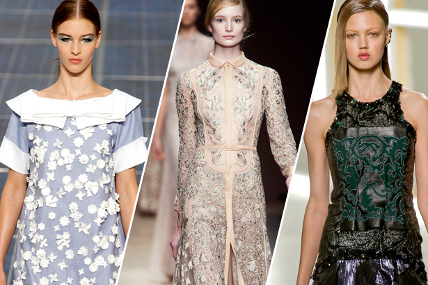 Chanel, Valentino, Rodarte Spring 2013, images: IMAXtree