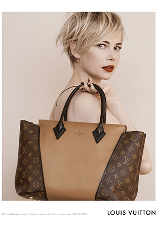 Louis Vuitton Garbage Bag link buzz: behind the scenes at michelle williams' louis vuitton shoot