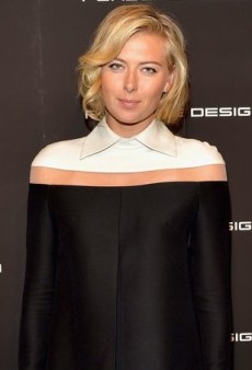 Maria Sharapova's Structured White and Black Valentino Fall 2013 Dress
