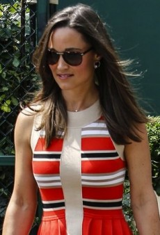 Pippa Middleton Attends Wimbledon in Temperley London's Alexis Stripe Dress