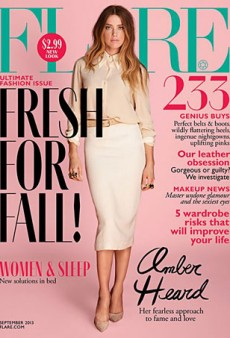 Amber Heard Disappoints on the Cover of Flare's September 2013 Issue (Forum Buzz)