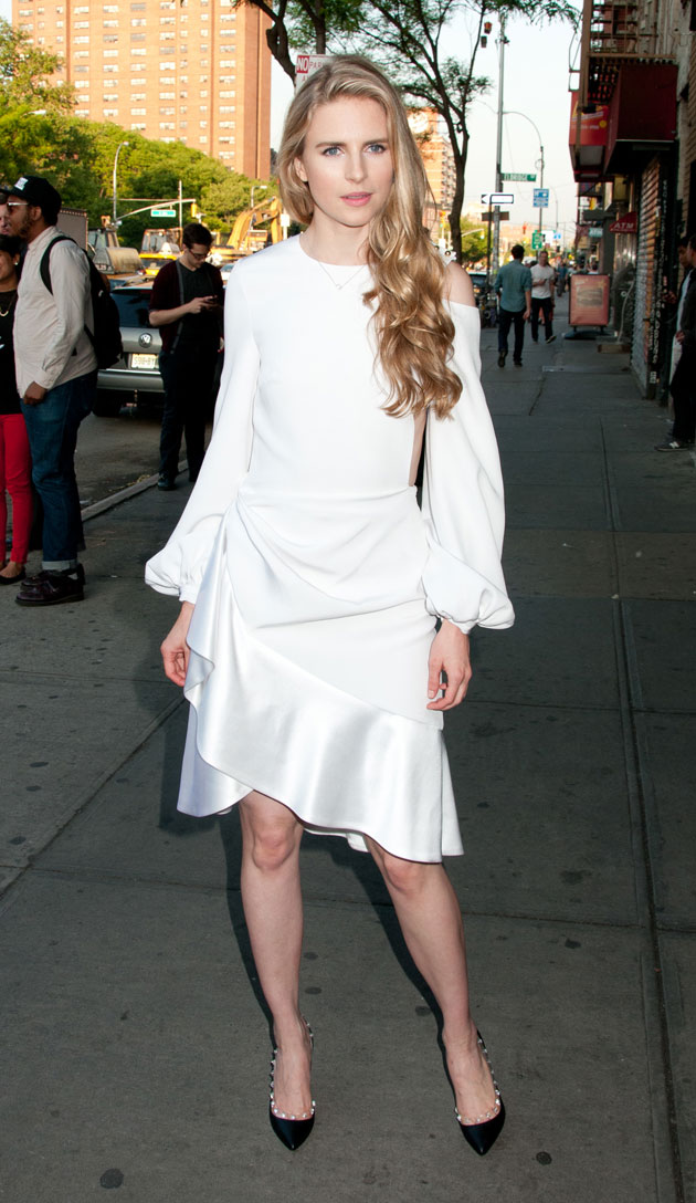 Brit Marling in Prabal Gurung Fall 2013 at the screening of