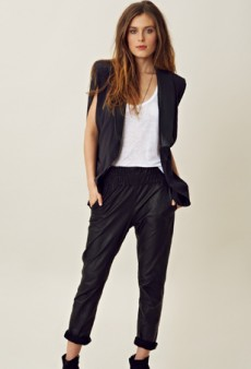 Trend Watch: Luxe Leather Track Pants