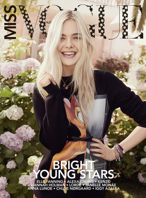 Elle Fanning on the cover of Miss Vogue Australia
