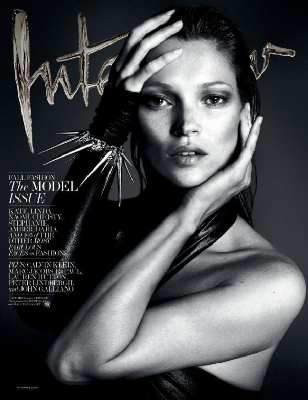 Kate Moss on Interview September 2013, ph: Mert & Marcus