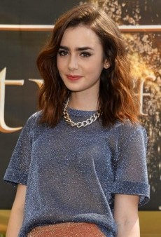 Lily Collins Meets and Greets Fans in a Sparkling Bec & Bridge Outfit