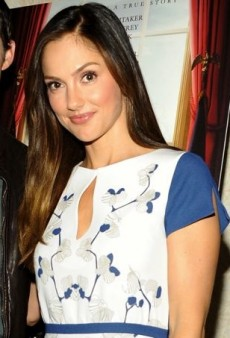 Minka Kelly Looks Divine in Diane von Furstenberg's Orchid-Printed Dress
