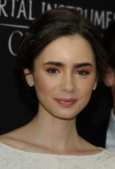 Get Lily Collins' Sparkling Evening Nude Makeup Look