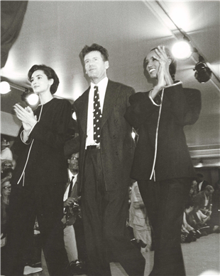 Calvin Klein, Iman and Model