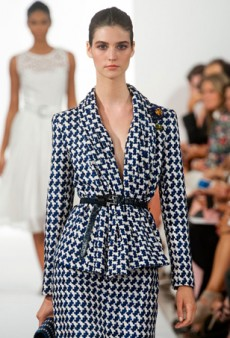 Oscar de la Renta Spring 2014: Brights, Neutrals and Killer Houndstooth