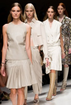 Salvatore Ferragamo Spring 2014: Plenty Of Neutral Daywear…and Some Snakeskin