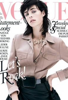 Edie Campbell Covers Vogue Germany's November Issue