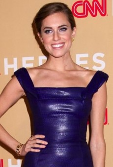 Allison Williams Celebrates CNN's Heroes in a Purple L'Wren Scott Spring 2014 Lacquer Dress