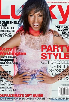 Lucky Magazine's December Cover Stars Kerry Washington … and It's Really Bad
