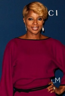 Mary J. Blige's Berry-Colored Gucci Spring 2014 Jumpsuit
