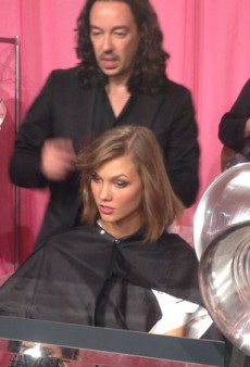Backstage at the Victoria's Secret Show 2013 with Angels Karlie, Adriana and Alessandra