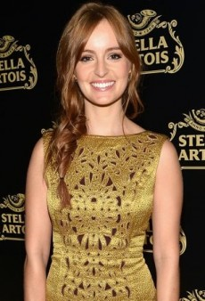 Ahna O'Reilly Shines in a Rich Tory Burch Dress
