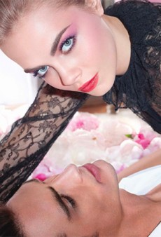Cara Delevingne Poses in Bed with a Boy for YSL Beauty's Spring 2014 Ad Campaign