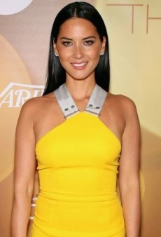 Olivia Munn Accepts Her Breakthrough Actress Award in a Vivid Victoria Beckham Dress
