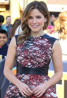 Sophia Bush Embraces Leather and Lace in Monique Lhuillier