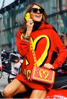 That Was Fast! Anna Dello Russo Has Already Been Photographed in Jeremy Scott's 'Fast Fashion' Moschino Collection