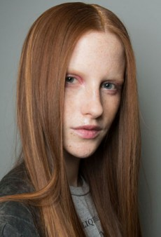 Models Sport a Blinged Out Hairline at Suno Fall 2014
