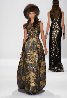 Badgley Mischka Goes for the Gold for Fall 2014