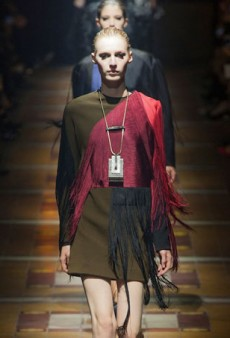 Lanvin is All About Fringe for Fall 2014 (Runway Review)