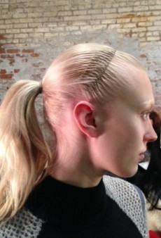 The Spring Comb Makes a Comeback Backstage at Helmut Lang Fall 2014