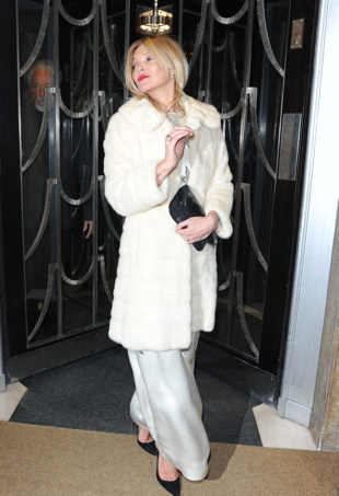 Kate Moss and Tom Jones Leave Claridges Hotel