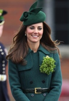 Catherine, Duchess of Cambridge Goes Green for St. Patrick's Day in Hobbs