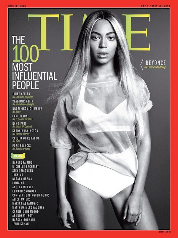 Beyonce's TIME magazine 100 Most Influential People cover