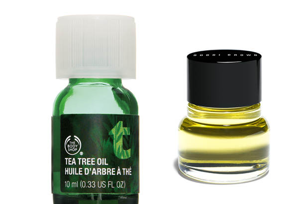 Facial oils from The Body Shop and Bobbi Brown
