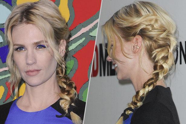 January Jones side braid