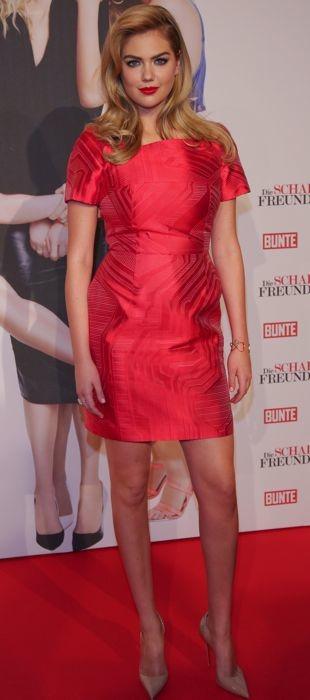 Katr Upton in fiery Fendi dress