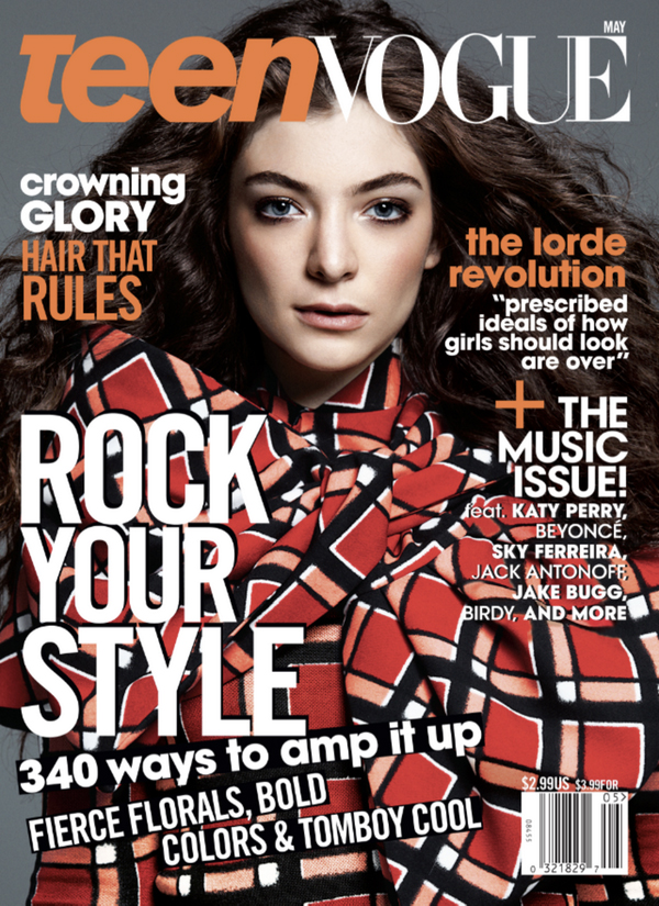 lorde teen vogue magazine cover