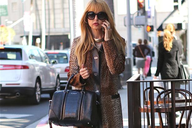 Rachel Zoe street style leopard coat