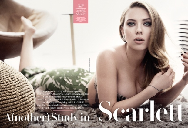 Inside photo of Vanity Fair's Scarlet Johansson shoot