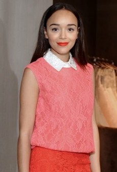 Ashley Madekwe Laces Up for a Luncheon in Monique Lhuillier