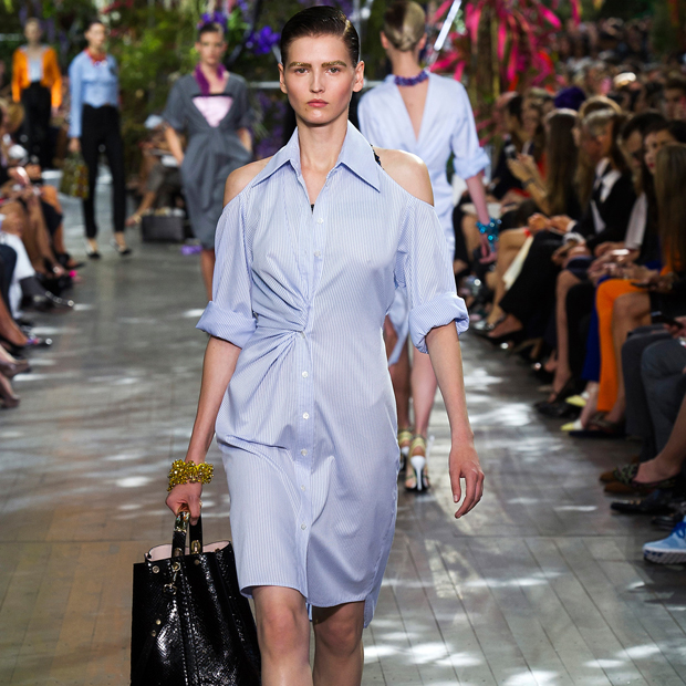 shirtdress at Christian Dior Spring 2014