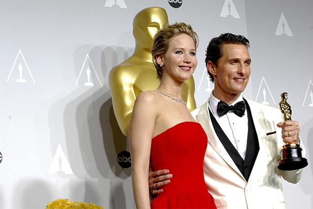 Matthew McConaughey,Jennifer Lawrence, Oscars